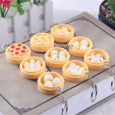 Simulation Food Steamer Key Chain Ring Keyring Charm Pendant Purse Keychain