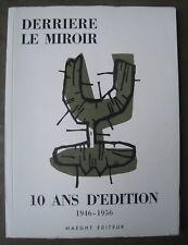 DERRIÈRE LE MIROIR 92-93 'DIX ANS D'ÉDITION' Chagall, Miro, Giacometti, Ubac