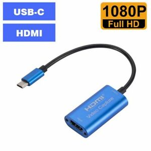 Video Capture Card 4K 1080P Type C to HDMI Video Game Grabber Record for PC Game