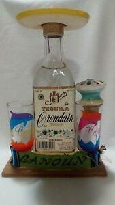 Tequila Orendain Blanco Cancum Mexico ml 250 mignon vintage bottiglia bicchieri