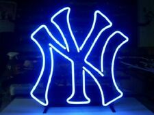 "New York Yankees Baseball Neon Light Sign 17""x14"" Beer Lamp Real Glass Decor Bar"