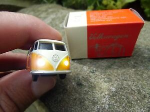 Official VW Classic Volkswagen Bus Samba T1 KEYCHAIN Orange/Cream LED lamps