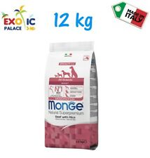 MONGE ALL BREED ADULT BEEF 12 KG CROQUETTES FOOD DRY FOOD FOR DOG DOG
