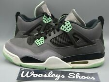 "Nike Air Jordan 4 Retro ""Green Glow""Size 10 308497-033 Basketball Shoes Preowned"