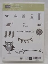 New Stampin' Up! Owl Occasions Stamp Set Unmounted Christmas