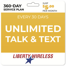 $5/Mo Liberty Wireless Prepaid Wireless Phone Plan
