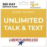 $5/Mo Liberty Wireless Prepaid Wireless Phone Plan