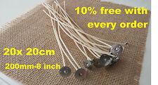 20 x 20 cm 200 mm 8 POLLICI lungo pre stoppini cerati per candela rendendo 10 percento supplementare gratuita