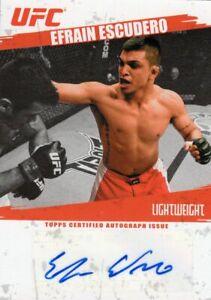 Efrain Escudero 2009 Topps UFC Round 2 Autograph Card