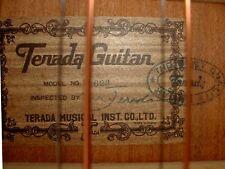 TERADA W-623 ViNTAGE JAPAN 1975 Western GiTARRE 12 String Acoustic GUiTAR RARE