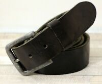 """Paul Smith Slim Belt Taupe /& Blue Belt 34/""""100/% Cow Leather 100/% Pewter Buckle"""