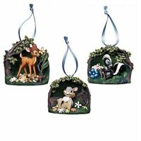 Disney Bambi 3 Ornament Set 75th Anniversary Limited Edition 300 D23 Expo Exclus