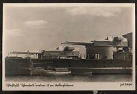 1941 Kiel Germany Feldpost Real Picture postcard Cover Battleship WW2