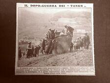 In Francia nel 1919 L'Automobil Club sperimenta i tanks come mezzi di trasporto