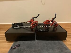Hope Tech 3 E4 (Front & Rear Brake Set) (Red)