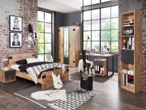 6 TEILE Jugendzimmer Liverpool Komplettset Kinderzimmer Jugendbett Schreibtisch