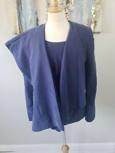 TAHARI ARTHUR S LEVINE NWT  Women 3PC Elegant Blue Wool Blend Pant Suit Size 16