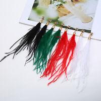 Boho Feather Tassel Ear Stud Earrings Drop Long Dangle Women Fashion Jewellery
