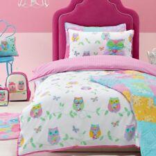Girls Owl Song Double Bed Quilt Cover Set Kids Bedroom Bedding