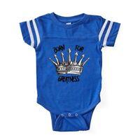 CafePress Born For Greatness Baby Football Bodysuit (317125375)
