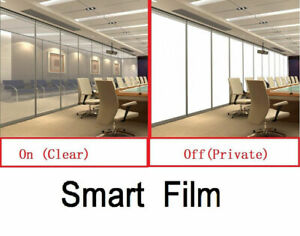White Smart film Switchable Film With Remote Electronic sample film HOHOFILM