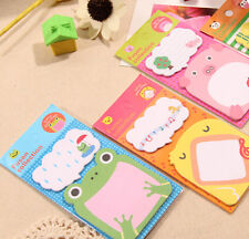 Cute Adhesive Sticky Notes Memo Pad Label UK Kids Party Index Panda Pig Frog