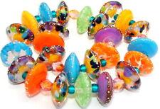 "Sistersbeads ""H-Fiesta"" Handmade Lampwork Beads"