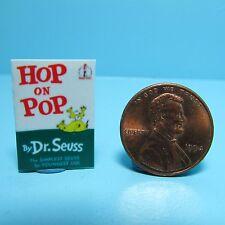 Dollhouse Miniature Replica of Book Dr Seuss Hop on Pop ~ B084