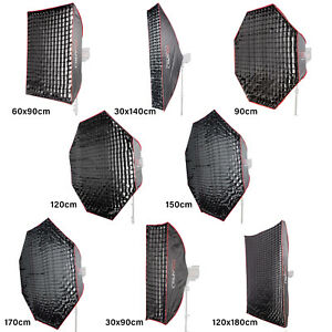 Easy-Open Umbrella Softbox with Honeycomb Grid Diffusion Layers Portable Design