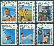 Laos 618 - 623  , ** , Olympische Spiele 1984