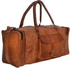 Bag Natural Leather Luggage Duffle Travel Gym Genuine Brown Men Vintage Bag