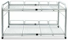 Surpahs 2 Tier Under Sink Expandable Shelf Organizer Storage Rack Silver