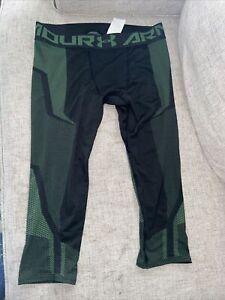New Under Armour Men's Threadborne Seamless 3/4 Leggings Size SM
