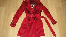 Wheels and Dollbaby iconic red trenchcoat coat jacket RARE size 2 leopard lining