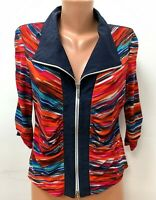 JOSEPH RIBKOFF size UK 16 Multicoloured Jacket Cardigan Zip
