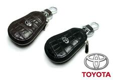Toyota Key Chain / Car Key Case / Key Holder: Genuine Crocs Leather