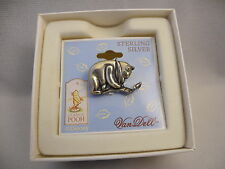 DISNEY VAN DELL WINNIE THE POOH CLASSIC POOH STERLING SILVER PIN  NEW REDUCED