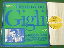 Beniamino Gigli Romanze e Canzoni Vol 19 SM 1231 Italian Issue LP