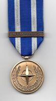 **NEW**  NATO MEDAL WITH CLASP:  NTM - IRAQ  MINIATURE  MEDAL