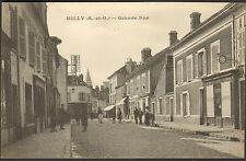GUERRE 14/18 MILLY-LA-FORET CARTE POSTALE GRANDE RUE HORLOGERIE BIJOUTERIE 1916