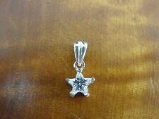 Star Shape Cubic Zirconia Petite Sterling Silver 925 Pendant