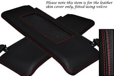 RED STITCHING FITS ALFA ROMEO 164 87-98 2X SUN VISORS LEATHER COVER ONLY