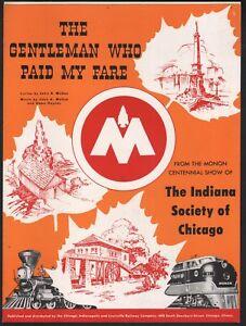 Gentleman Who Paid My Fare 1947 Monon Centennial Show Sheet Music
