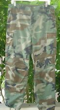 Vintage Military Army Camouflage Cargo Pants Combat Trousers Pockets READ
