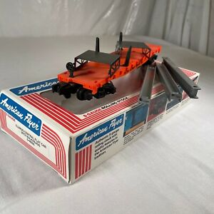 AMERICAN FLYER 6-48505 S SCALE ILLINOIS CENTRAL FLATCAR WITH BULKHEAD LOAD