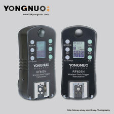 YONGNUO  RF-605N RF-605 Wireless Flash Trigger with LCD for Nikon Cameras
