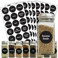 110 Pantry Labels Set Preprinted Kitchen Labels Sticker Food Jar Container Label