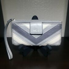 RELIC Women's Snap Wallet GRAY TONES Checkbook Cover Credit Card Holder
