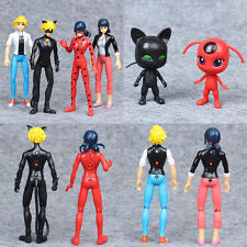 Miraculous Ladybug 6Pcs PVC Figures Toys Marinette Adrien Cat Noir with Light