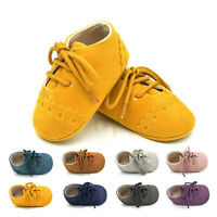 Toddler Baby Boy Girl Crib Shoes Anti-slip Prewalker Soft Sole Trainers Sneakers
